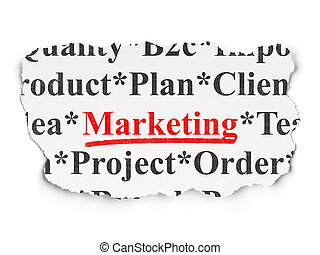 Advertising concept: Marketing on