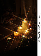 Sparkling Christmas candles - 1 - Candles with Christmas...