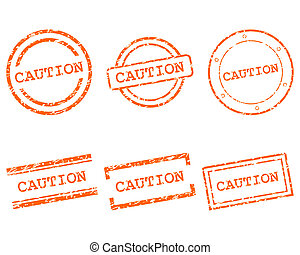 Caution stamps