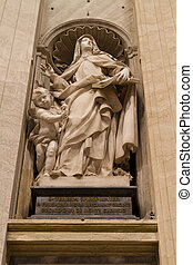 St Teresa of Jesus, St Peters Basilica, Vatican City State...