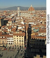 fantastic view of Florence - seen from Palazzo Vecchio and...