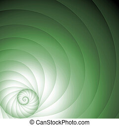 Snail. - Cork background to the text. Volume spiral a giant...