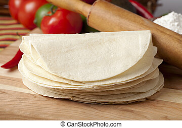 vacío, tortilla, envolver