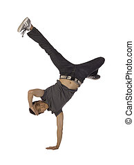hand stand dance move - Teenage dancer doing a hand stand...