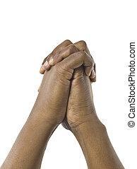 junto, mãos