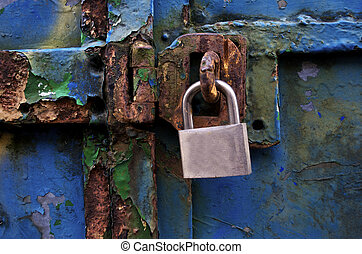 Old Lock on Door