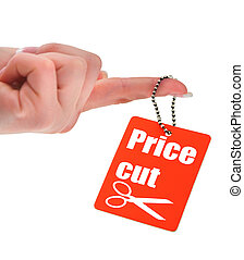 hand holding price tag, photo does not infringe any...