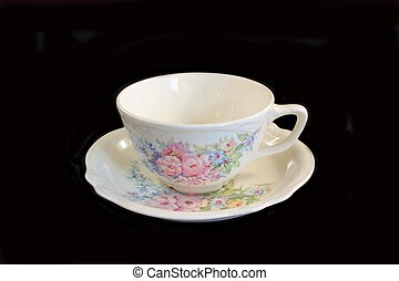 Antique Cup and Saucer - Antique cup and saucer from the 50s