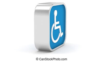 Dark Blue Accessibility Sign