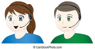 Customer Service Representatives - Male and female call...