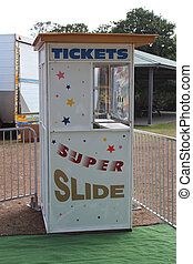 Amusement park ticket booth