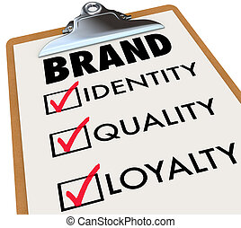 Brand Checklist Identity Quality Loyalty on Clipboard - The...