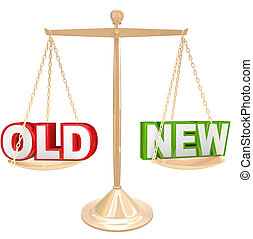 stary, vs, nowy, Słówko, waga, tabela, obarczanie,...