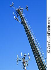 célula, telefone, antenas