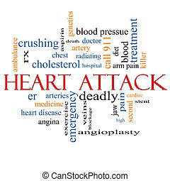 Heart Attack Word Cloud Concept with great terms such as...