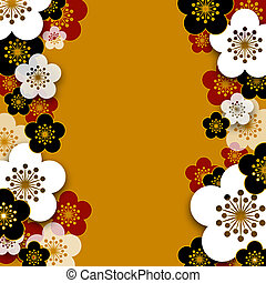 Plum blossoms background