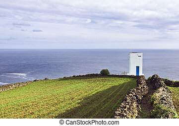 Whale watch tower in Pico, Azores