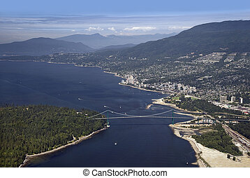 Vancouver - Lions Gate Bridge, West Vancouver and Coast...