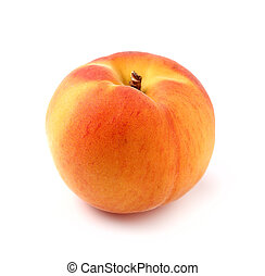 One ripe peach in closeup