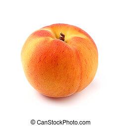 One ripe peach in closeup