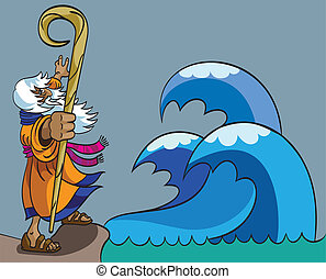 Moses and Red Sea - Moses moves the Red Sea for the people...
