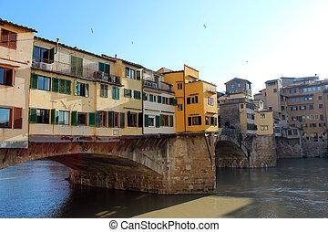 Ponte Vecchio, Florence, Italy - View of Ponte Vecchio,...