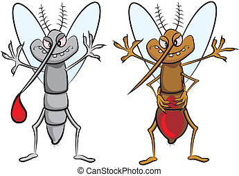 gluttonous mosquito - plague of mosquitoes - carrier of...