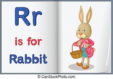 Alphabet worksheet for the letter R