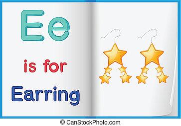 Alphabet worksheet for the letter E