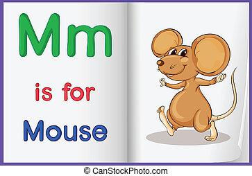 Alphabet worksheet for the letter M