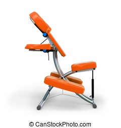 3d detailed massage chair