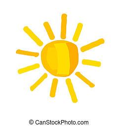 Sun illustration - The sun - vector illustration