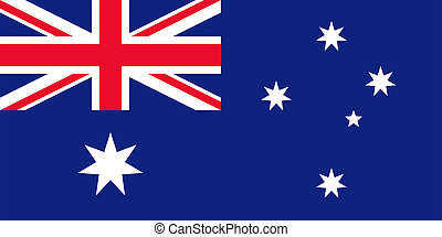 Flag of Australia. - National flag and state ensign of...