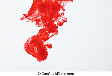 Red ink in water - Red ink dispersing in water