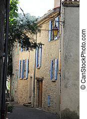 Streetview in the Provence - Streetview of a street in...
