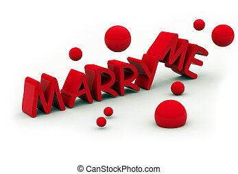 marry me text on white background