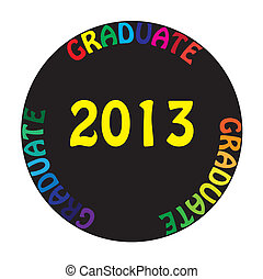 GRADUATE 2013 coloful CIRCLE