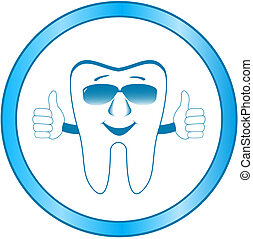 dental clinic symbol with smile too