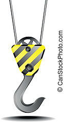construction hook - detailed illustration of a construction...