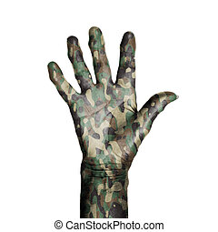 Camouflaged old hand