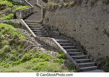 Concrete stairs - Concrete or cement stairs