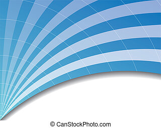 Blue wave  - Blue arch like background with white stripes