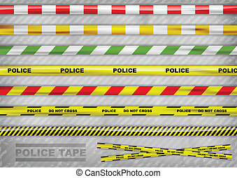 tapes - police tapes in the various colour