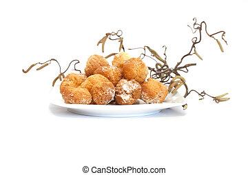 dolci di carnevale - piatto di dolci carnevale