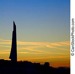 Sunset in Sevastopol - Color sunset in Sevastopol, Ukraine