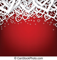 Red heart background. - Vector Illustration of red valentine...