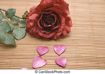 Heart blossoms with rose