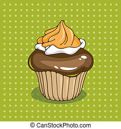 Cupcake, vector illustration