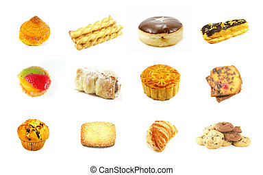 Baked Goods Series 3 Isolated on a White Background