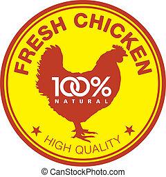 Fresh chicken label